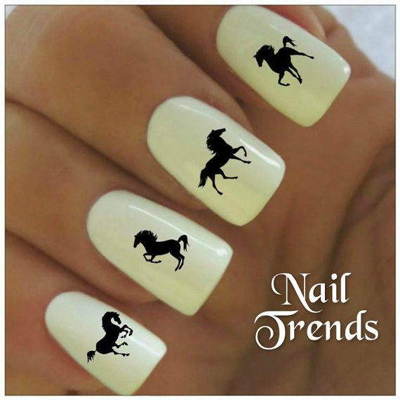 Horse Nail Decal. 20 Vinyl Stickers Nail Art by NailTrends on Etsy ...