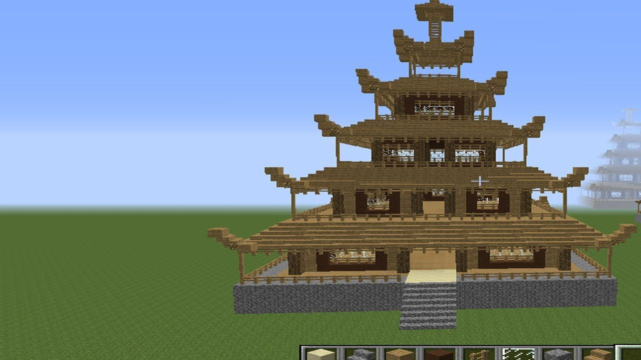 Minecraft how to build awesome asian house tutorial part for Classic house tutorial
