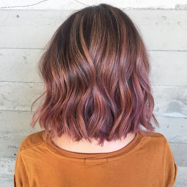 Image Result For Subtle Pink Highlights In Brown Hair Hair Styles Brown Hair Balayage Brown Hair With Highlights