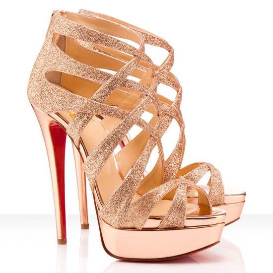 christian louboutin sandals gold