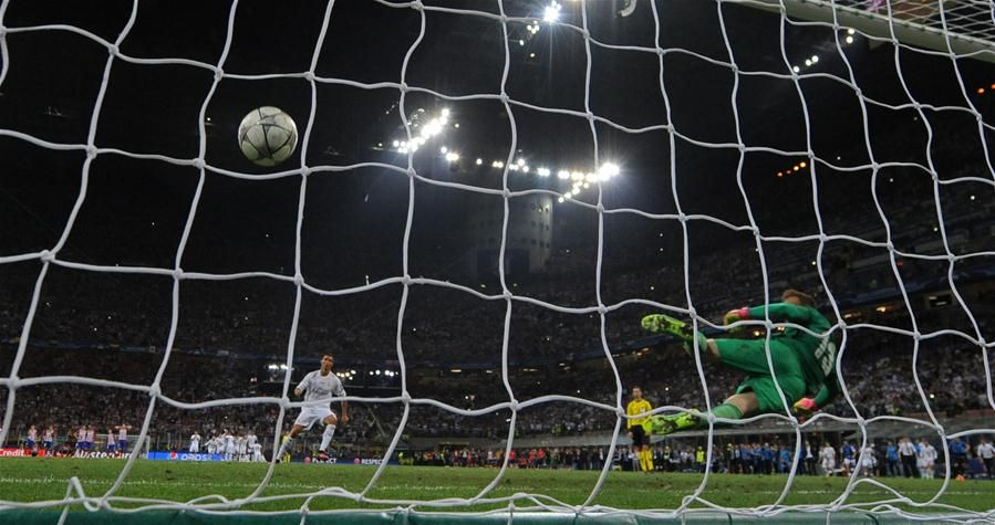 Cristiano Ronaldo scores the winning goal in a shootout to give Real Madrid victory over Atletico Madrid in the Champions League final which finished 1-1 after extra time.  http://www.chinasportsbeat.com/2016/05/real-madrid-wins-2016-uefa-championship.html