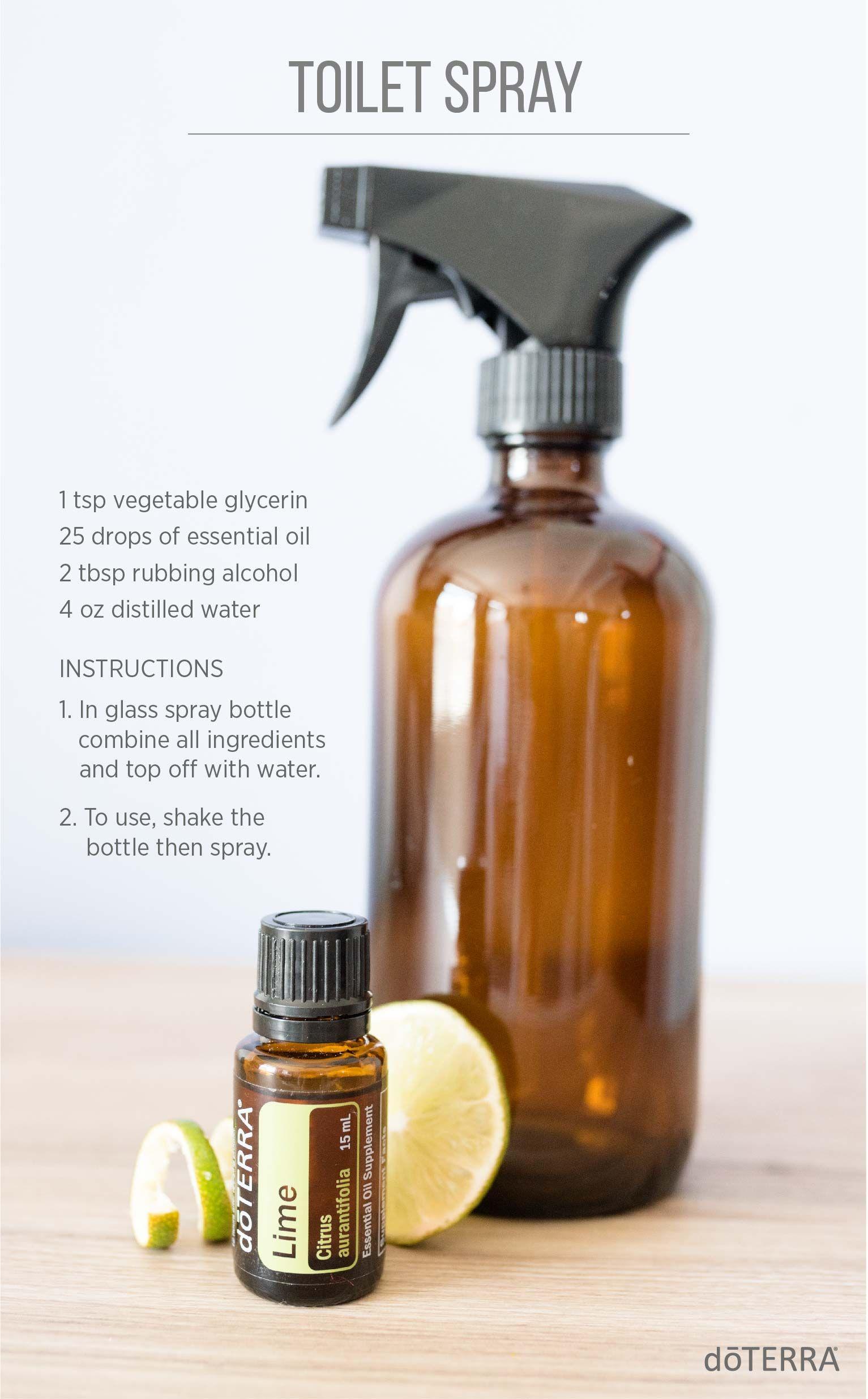 Try this simple diy toilet spray house cleaning - Diy bathroom cleaner essential oils ...