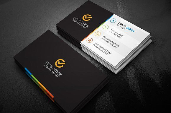 Modern business card template card templates business cards and modern business card template by made by arslan on creativemarket flashek Images