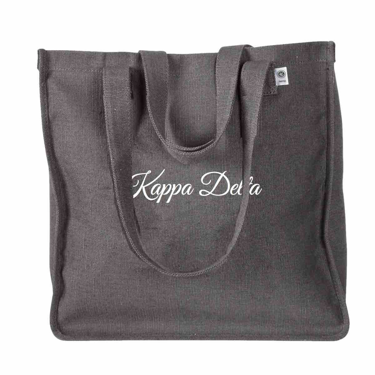 Now available Kappa Delta Hemp ... Shop http://manddsororitygifts.com/products/kappa-delta-bag-grey?utm_campaign=social_autopilot&utm_source=pin&utm_medium=pin