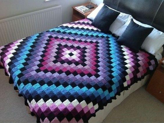 Crochet Bedspread Pattern | Crochet Free | Anleitungen Haushalt ...