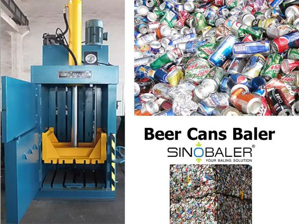 Beer Cans Baler Machine Aluminum Drink Cans Baler Recycling Machines Beer Canning