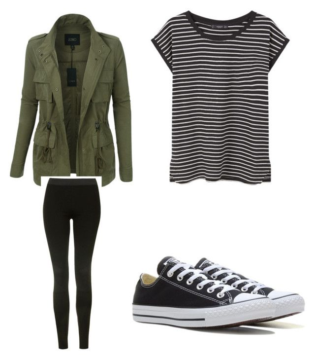 """""""Untitled #1"""" by flordrumsleon on Polyvore featuring LE3NO, MANGO, Topshop and Converse"""