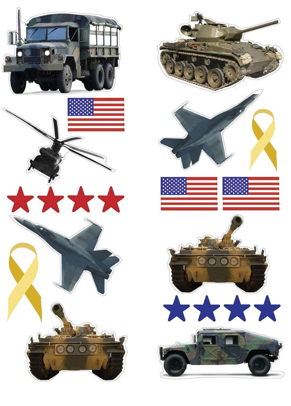 USA Military Wall Stickers 21pc Armed Forces PeelN