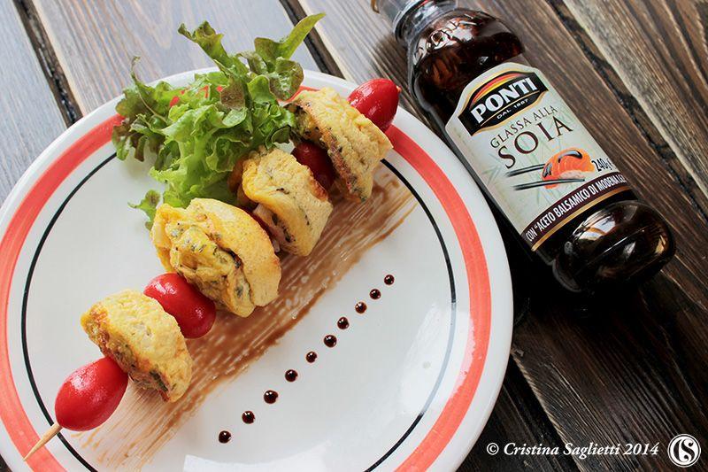 Gli Spumoncini – uova, latte e cipolla rossa di Tropea per le frittatine al forno e la Glassa Ponti alla salsa di soia -