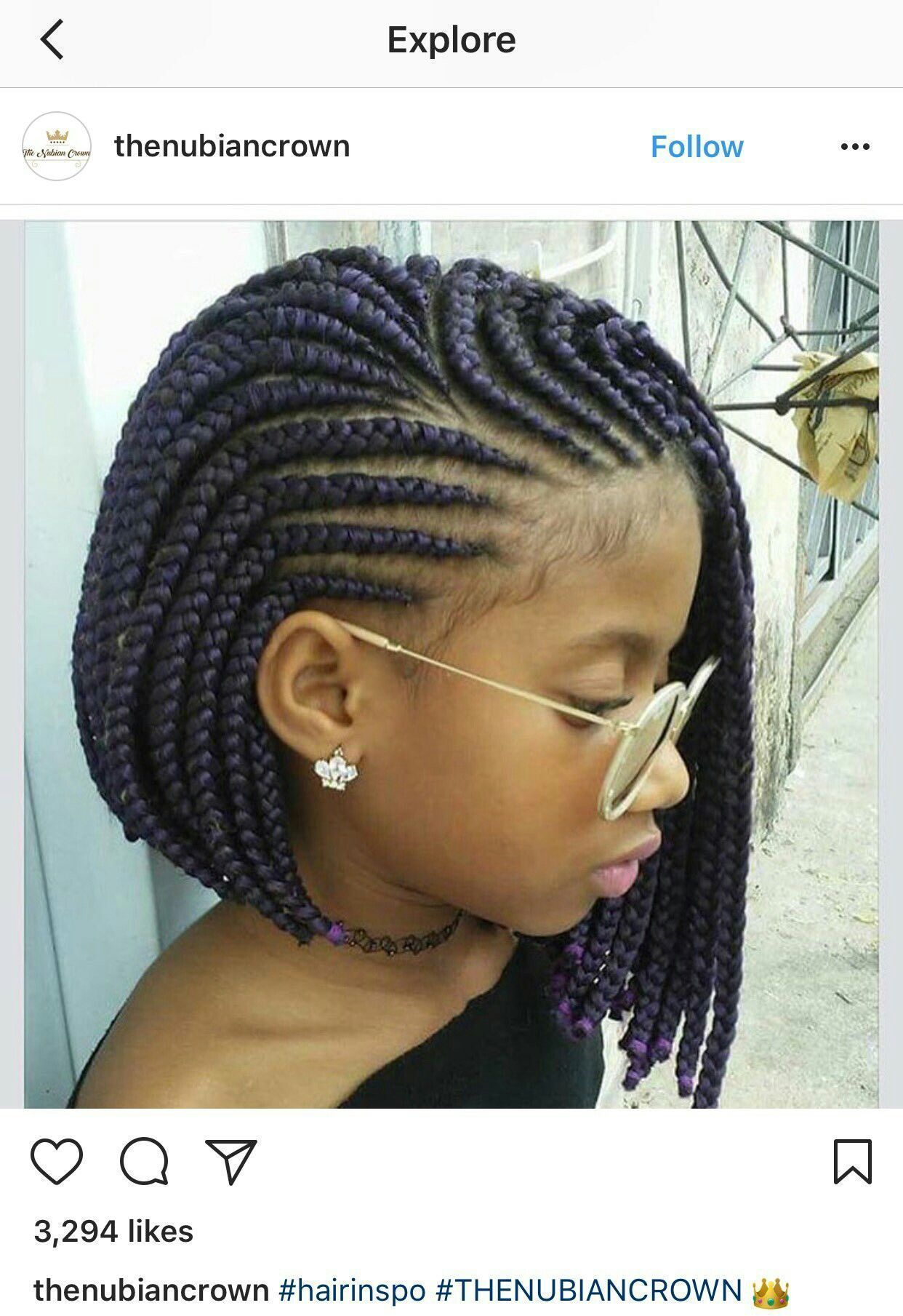 Cornrow Bob With Images Natural Hair Styles Cute
