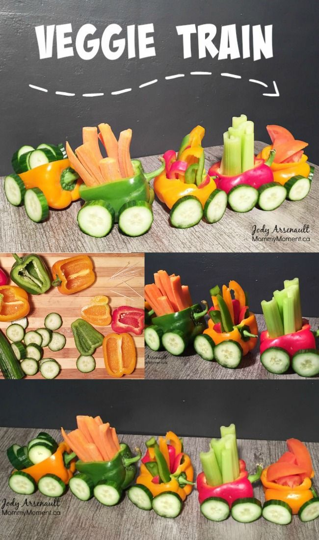 Easy veggie train snack for kids dekoration essen und for Dekoration essen