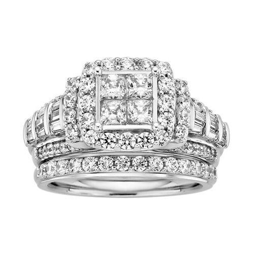 2 ct tw diamond centerpiece wedding set jewelry. Black Bedroom Furniture Sets. Home Design Ideas