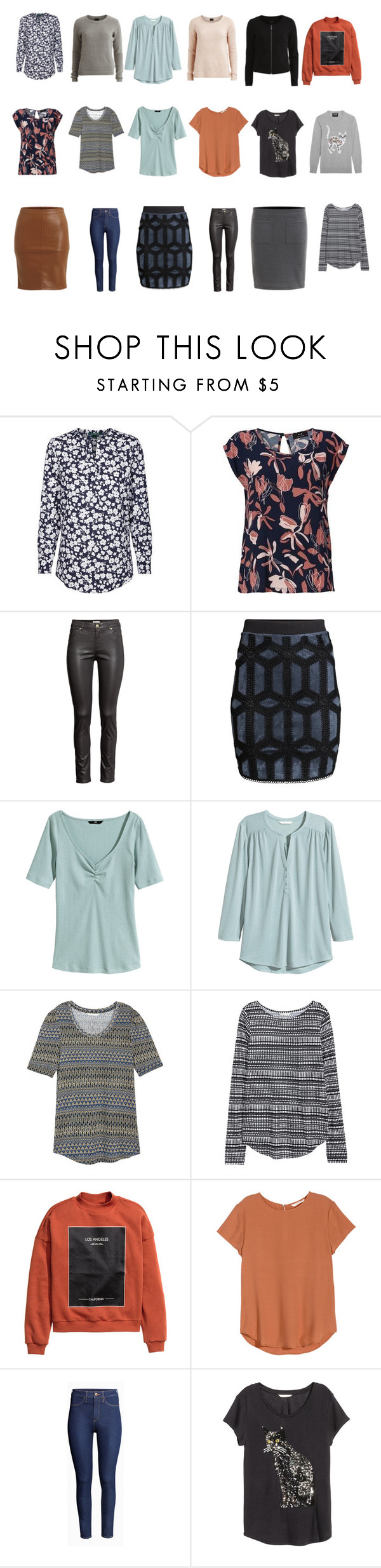 """Capesul Wardrobe spring 2016 interest"" by lone-haure-norrevang on Polyvore featuring VILA, H&M and Markus Lupfer"