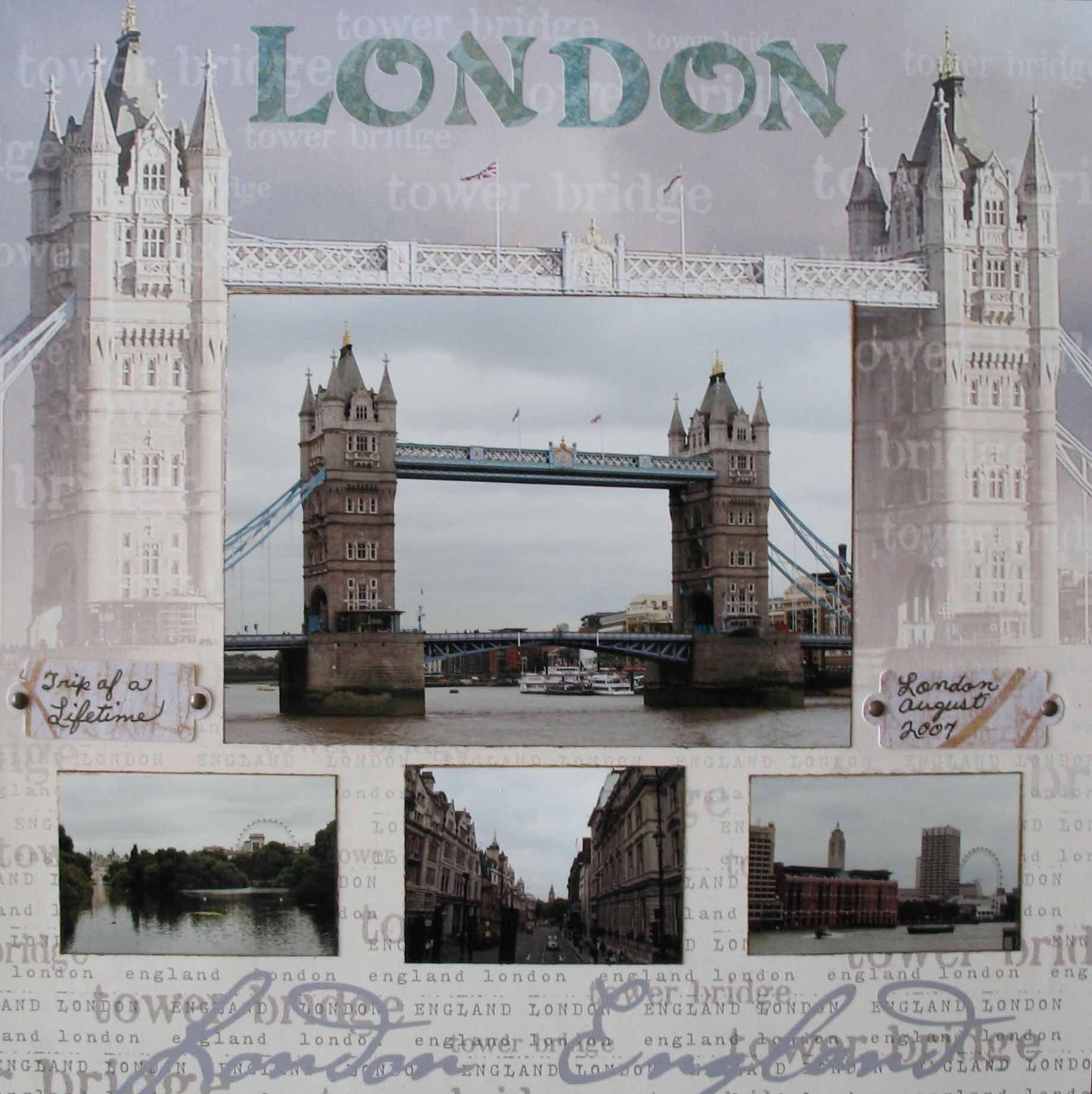 Scrapbook ideas england - Our Trip Of A Lifetime London Scrapbook Com