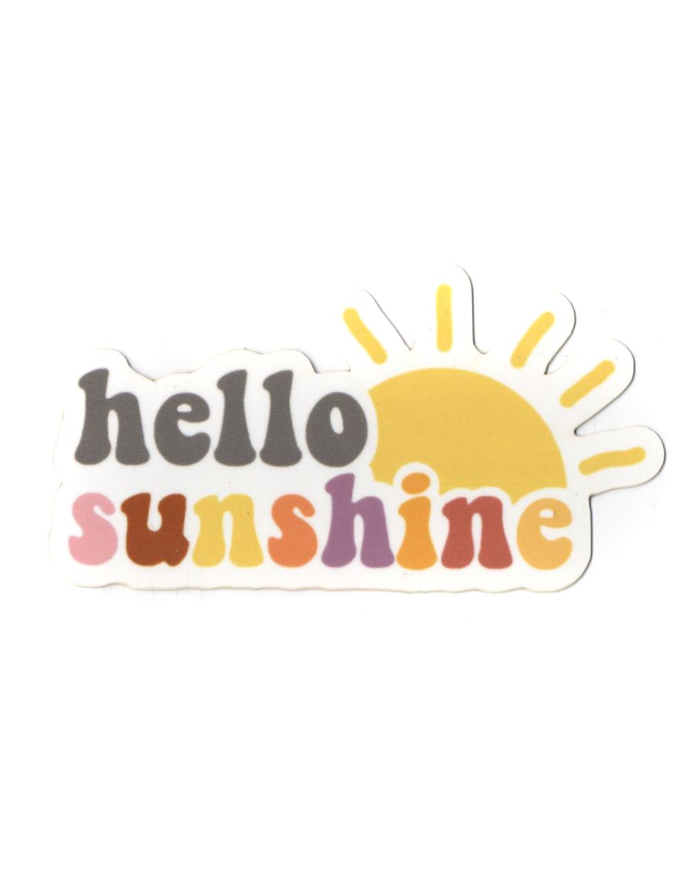 ACS Aesthetic Hello Sunshine sticker. Approx dimensions: 3.5
