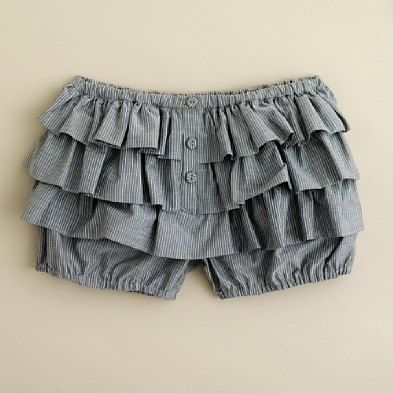 Girls' cotton wave bloomers