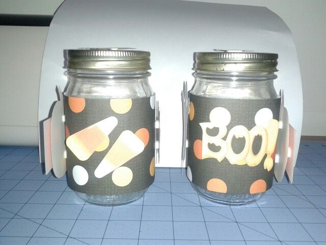 Halloween Center Piece Jars 2&3 Side 1