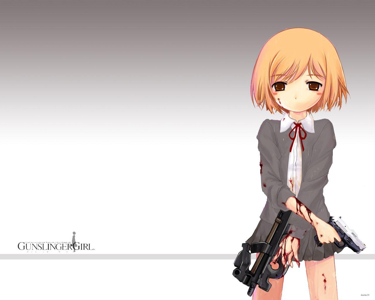 Pubg Wallpaper Boy: #Anime Girls With #guns #GSG #GunslingerGirl #P90 Http