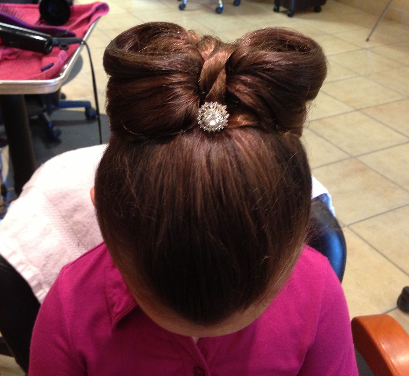 Kids bow updo | Christmas party hairstyles, Kids hairstyles ...