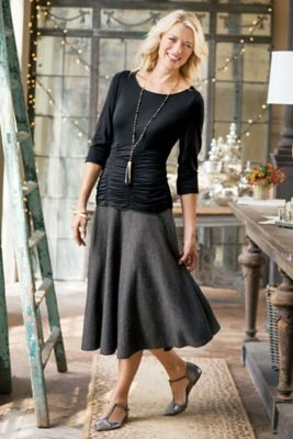 Pure Flattery Skirt - Circle Skirt, Jersey Knit Skirt | Soft Surroundings