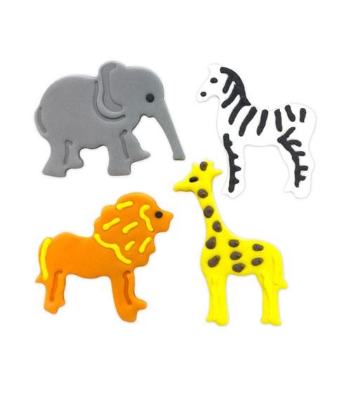 Giraffe und Zebra Safari-Dschungel-Motto-Party-Deko Löwe Aufblasbarer Elefant