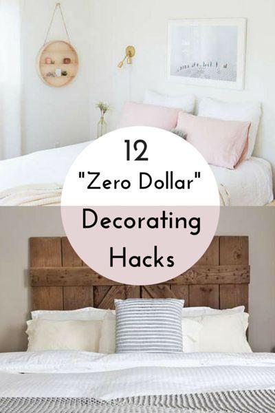 12 Zero Dollar Home Decorating Hacks Home Decor Hacks