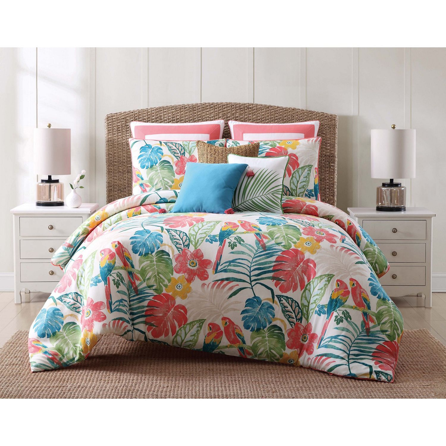 Bright Tropical Full queen 3 Piece forter Set