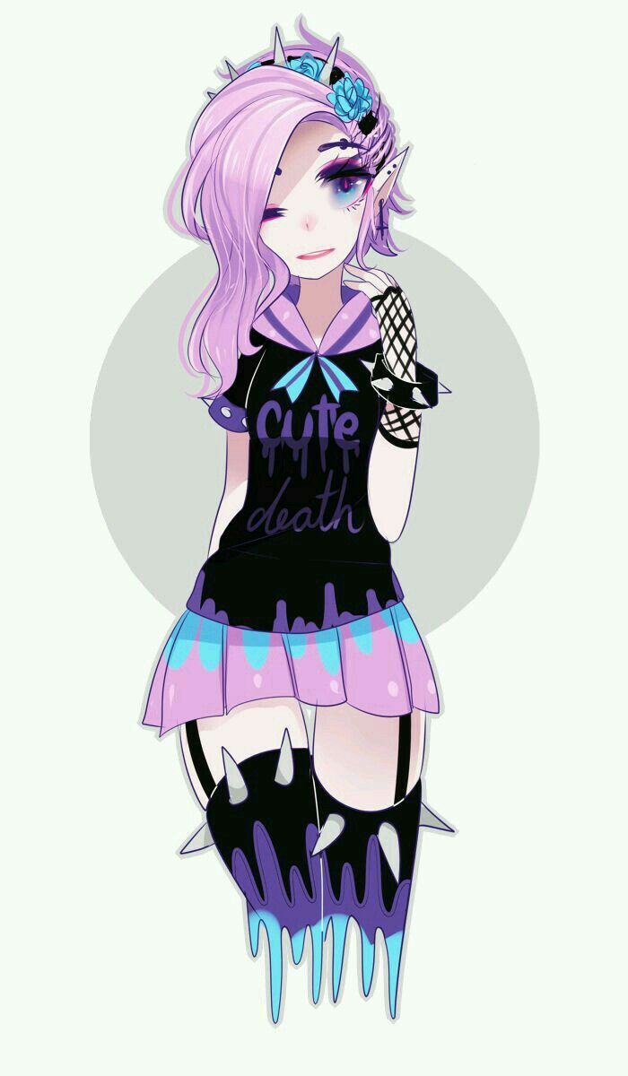 Umm an intresting for of anime  Pastel goth art, Pastel goth
