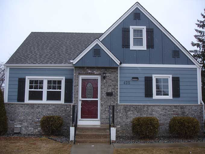 House in james hardie boothbay blue google search don for Hardiplank house plans