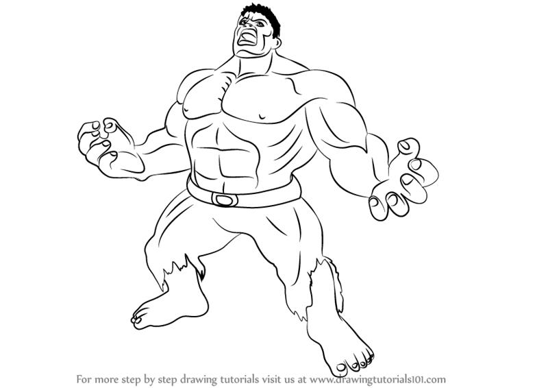 Hulk Cartoon Drawings Learn How To Draw Angry Hulk The Hulk Step By Cartoon Body Angry Hulk Drawing Cartoon Characters