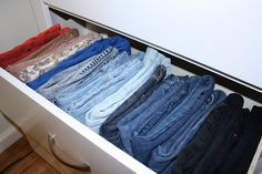 Clever way to store jeans