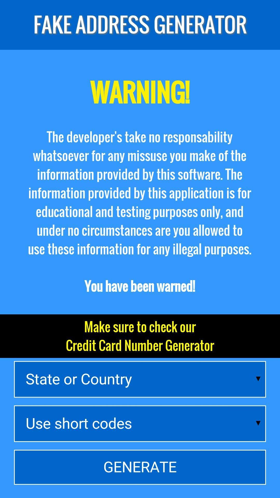 Fake Zip Code Address For Android Apk Download Visa Card Generators For Sale Coding