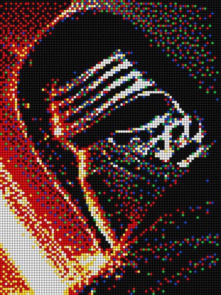 Kylo Ren Star Wars With Pixel Art Quercetti Vyazanie