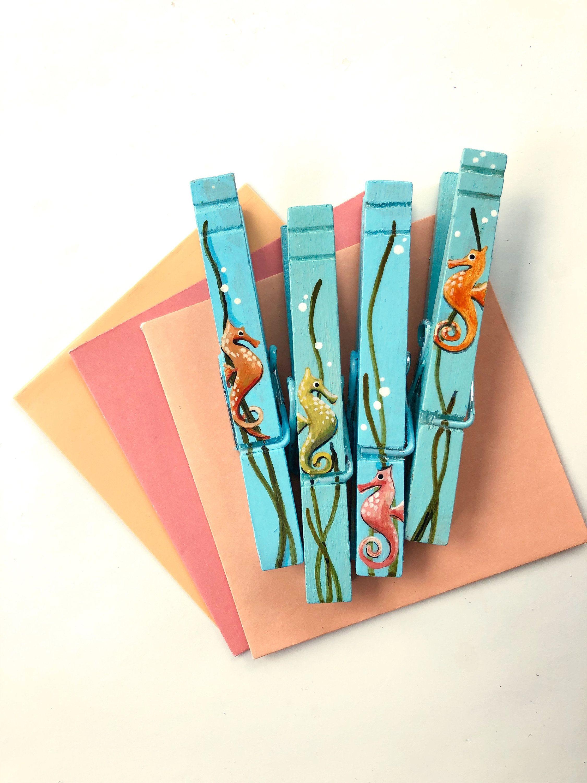 Fish Tie Clip Summer Tie Clip.F205 Hippocampus Tie Clip HandcraftDecorations Seahorse Tie Clip Beach Tie Clip Ocean Tie Clip