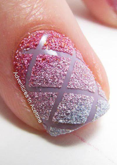 latest striped nail art design