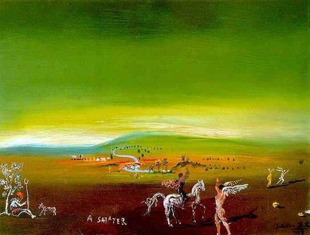 'Ampurdanés Paisaje, 1978', óleo de Salvador Dali (1904-1989, Spain)