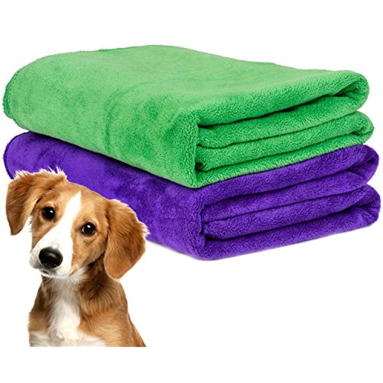 Legendog Pet Bath Towel 2pcs Pet Bath Towel Large Ultra Absorbent
