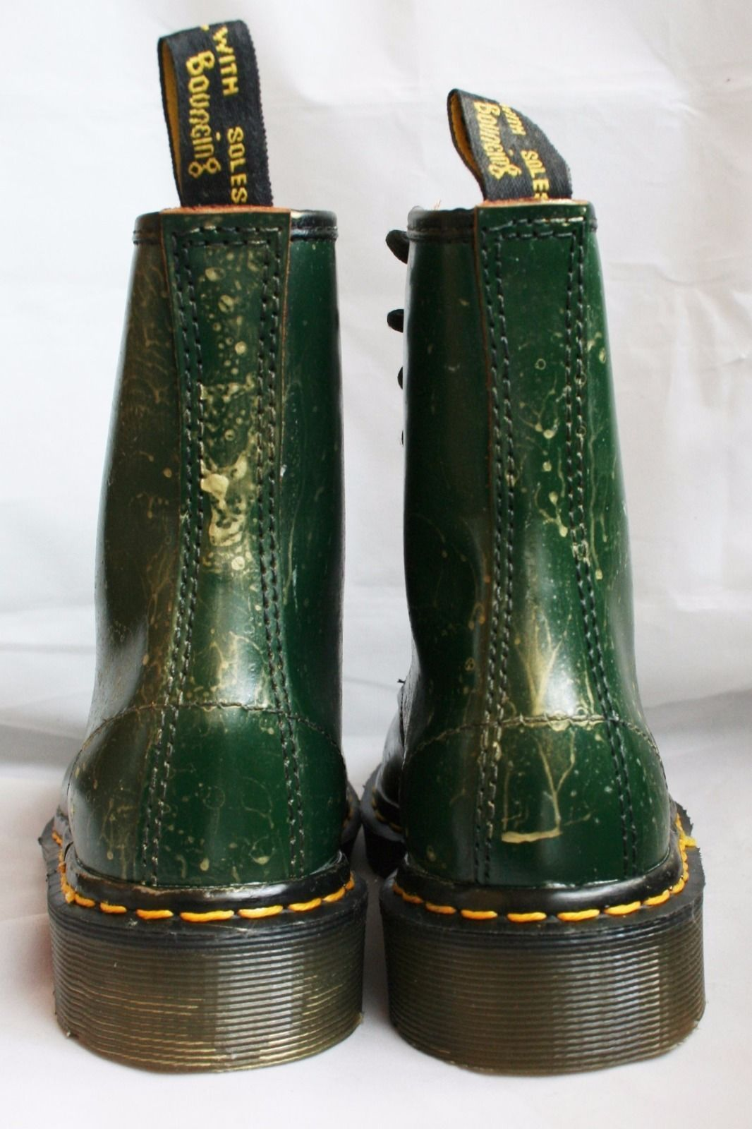 0218d817106 Dr Martens Made in England 1460 Green new w/o box custom gold paint Docs  size 3 in Clothes, Shoes & Accessories, Women's Shoes, Boots | eBay!
