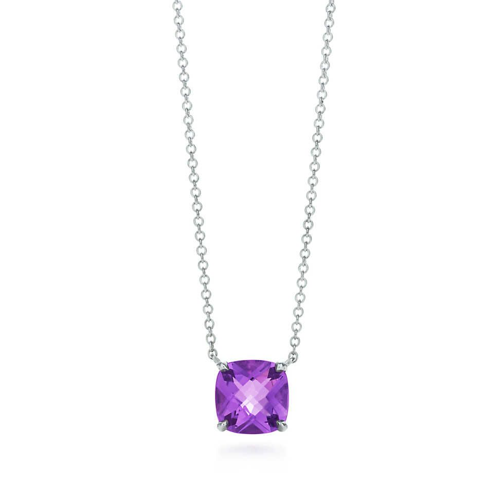 Tiffany Sparklers amethyst pendant in sterling silver