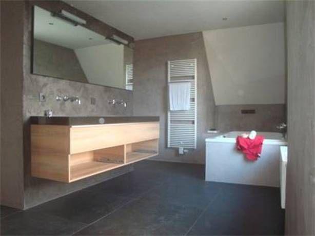 badkamer met ruw stucwerk - Home improvement | Pinterest - Badkamer ...