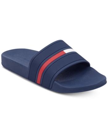 d636f728864e Tommy Hilfiger Men s Ennis Slide Sandals - Blue 11 Blue Sandals