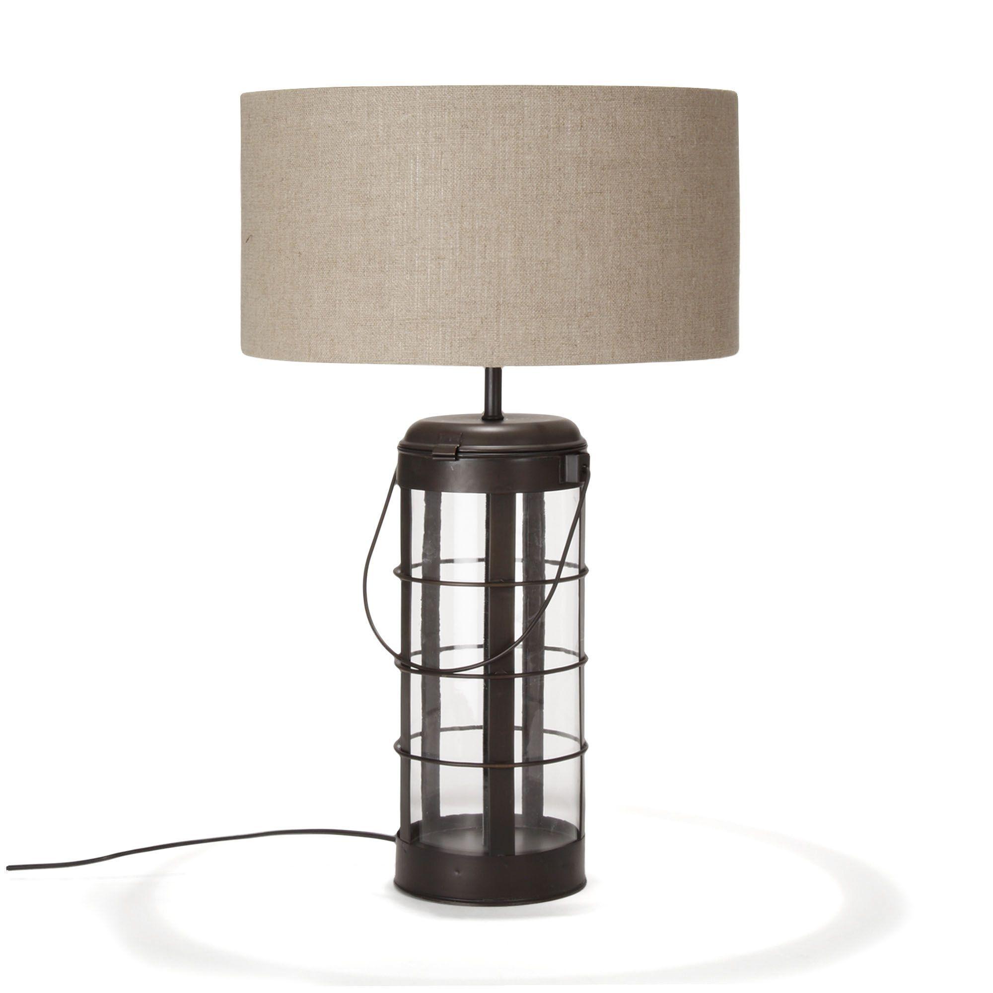 lampe avec abat jour noir oxyd faraday les lampes poser luminaires salon et salle. Black Bedroom Furniture Sets. Home Design Ideas