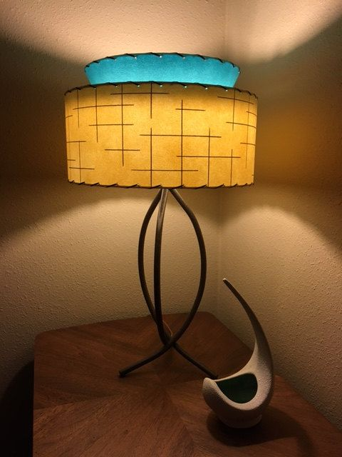 Mid Century Modern Lamp Shades New Mid Century Vintage Style Tapered 2 Tier Fiberglass Lamp Shade Design Decoration