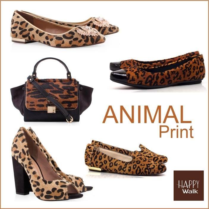 Animal Print é tudo de bom! Super arrase com muito estilo e atitude!  #happywalk #animalprint #iloveshoes #fashionistas #trend