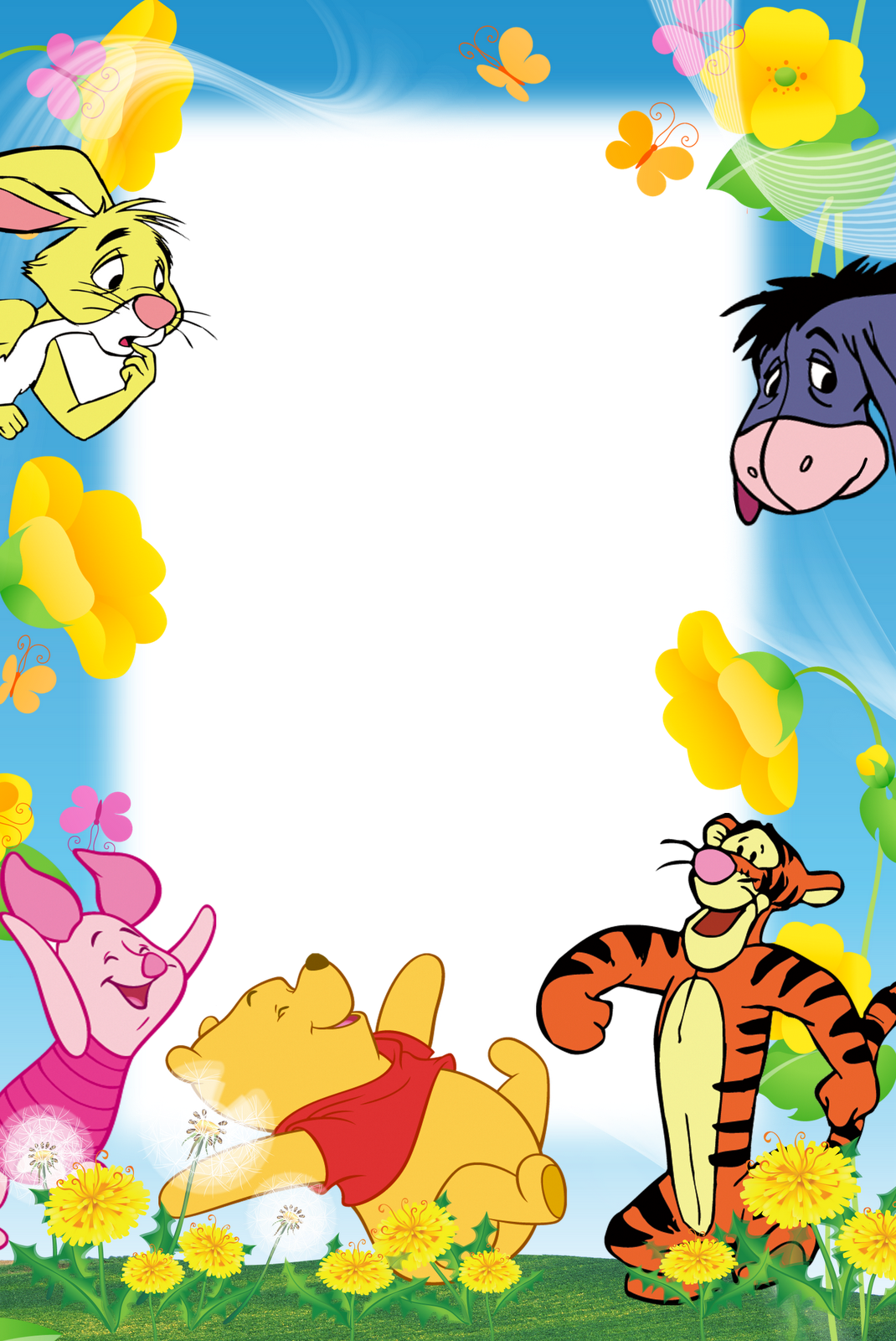 Winnie The Pooh And Friends Boarders Sobres De Papel Png Dibujos