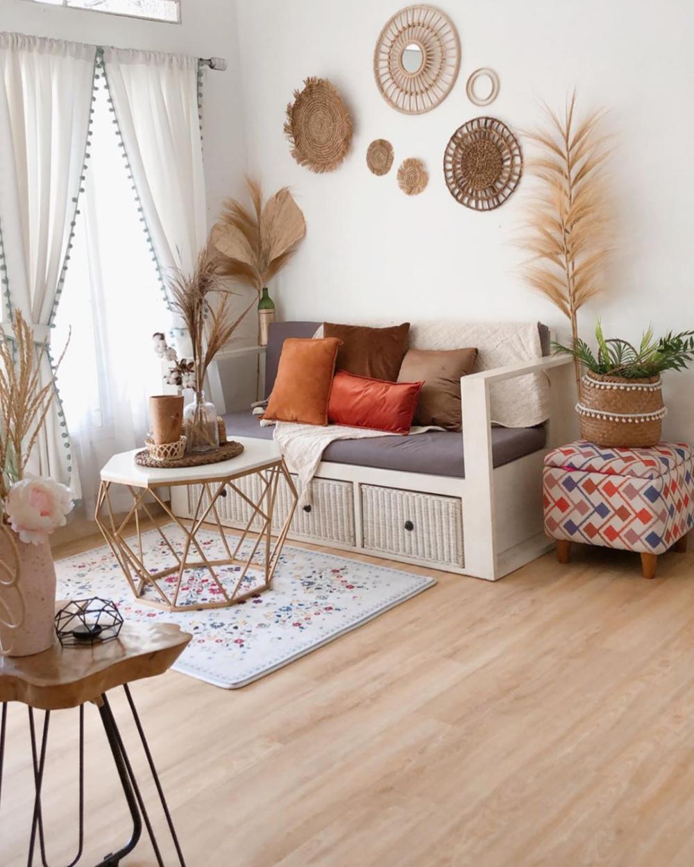 Warna Cat Tembok Ruang Tamu Yang Bagus Warna Krem Coklat