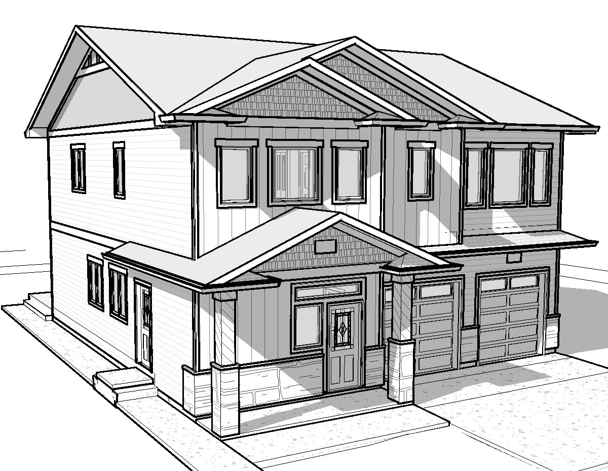 3d house drawing pencil house drawing picture sketch