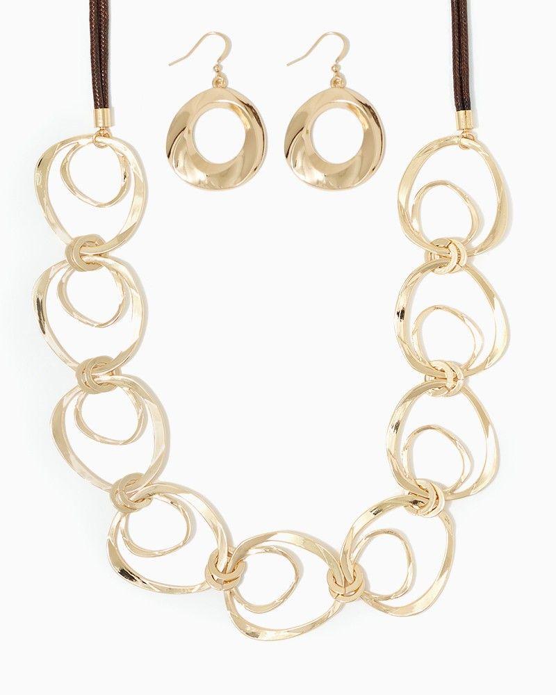 charming charlie | Ring Around My Necklace Set | UPC: 410007353816 #charmingcharlie