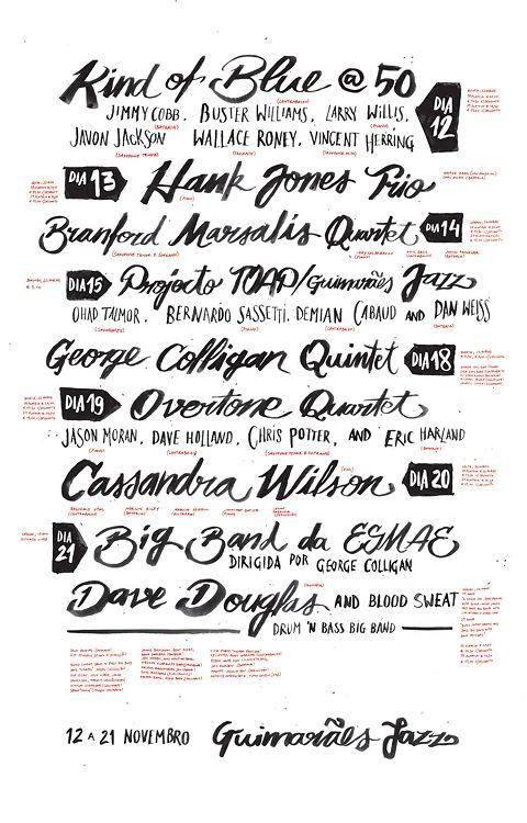 Ateliemartinandjana04 Jazz Poster Lettering Lettering Design