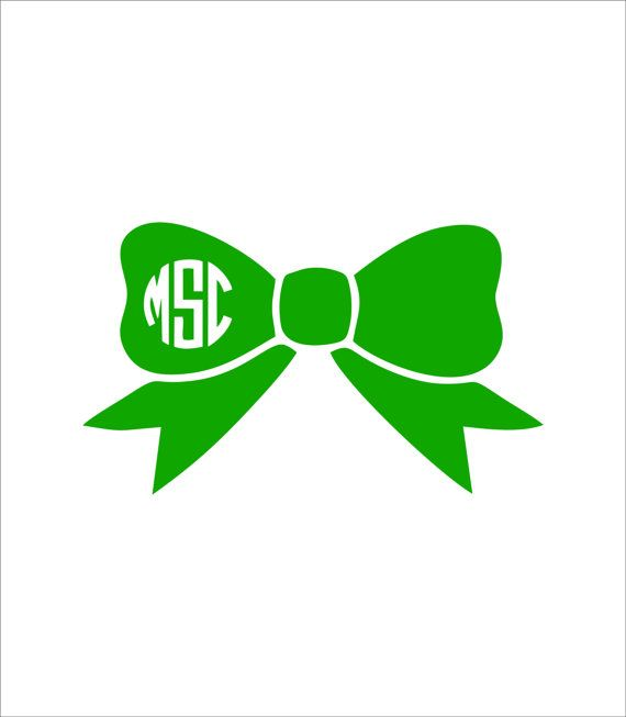 Bow Car Monogram Decal Car Monogram Monogram Decal And Monograms - Bow custom vinyl decals for car